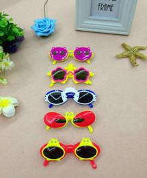 Venta al por mayor de Gafas de sol de juguete de dibujos animados lindo niños de doble capa Gafas de diseño animal para niños Gafas de sol de dibujos animados Gafas para bebés niñas niños