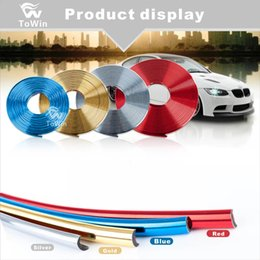 wheel trimmer UK - Decorative Strip Car Wheel Hub Trim Strip Universal Colorful Modification Car Wheel Rim Strip For Auto Vehicle DIY Preferential.