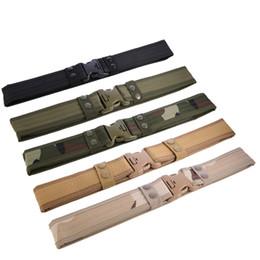 Green Plastic Army Men Canada - Oxford Special Secret Service men's canvas Outdoor tactical Belt EVA Sponge men's Belt