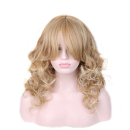 $enCountryForm.capitalKeyWord NZ - Long Blonde Wig With Bangs Women Synthetic Cosplay Curl Hairpiece Heat Resistant