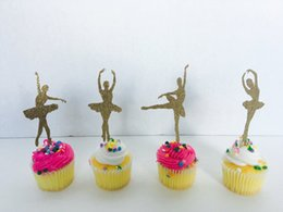 $enCountryForm.capitalKeyWord NZ - GLITTER Ballerina Cupcake Toppers first birthday Wedding Bridal baby Shower Engagement Party Bachelorette food picks