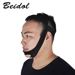 stop snoring belt 2019 - 3pcs Black Color Snore Belt Stop Snoring Sleep Apnea Chin Support Strap for Woman Man Care Sleeping Tools Frist NEW chea