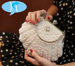 Handbags Bling Australia - Bekasnoew New Fashion Women Handbags Flap imitation pearl Evening Bags Bling Bling Diamonds Day Clutches