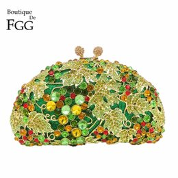 $enCountryForm.capitalKeyWord Canada - Boutique De FGG Green Diamond Women Grape Evening Purse Clutches Party Wedding Handbags Bridal Crystal Clutch Minaudiere Bag
