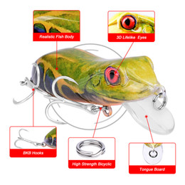 Discount fishing lures top water frogs - EMS free shipping 4cm 9.5g Soft Frog Fishing Lures Soft Frog Bait Top Water With 8# Hooks simulate Fishing tackle