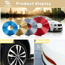wheel trimmer UK - Wholesale,Universal Decorative Scratchproof Stickup,Flexible Car Wheel Hub Trim Mouldings Shining Decoration Strip,Decoration 4 Colors.
