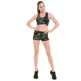 camouflage army green leggings 2019 - Wholesale-LOVE SPARK New Army Green Camouflage Women Sport Fitness Yoga Running Leggings Red Elastic Gym Shorts cheap ca