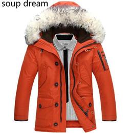 mens thick fur coats 2019 - Soup dream Men's Winter Jacket Mens Brand Plus Velvet Hooded Padded Male Casual Warm Fleece Fur Collar Parkas Cold
