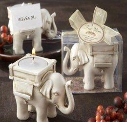 "Wholesale Candles Sale Australia - Wholesale NEW ARRIVALWedding Favors ""Lucky Elephant"" Tea Light Candle Holder Polyresin Candle Holder hot sale Free Shipping"