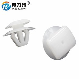 $enCountryForm.capitalKeyWord UK - KE LI MI Door Sill Strip Panel Trim Retainers Clips White Nylon Fasteners 100 Pieces For Hyundai