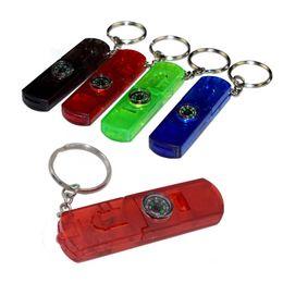 Edc mini survival kits online shopping - 4 In EDC LED Compass Whistle Mini Keychain Emergency Survival Kit Multifunctional X215