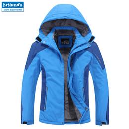 snowboard ski jackets 2019 - Plus Size men ski jacket men Mountain Thicken Plus fleece ski-wear waterproof hiking outdoor snowboard jacket snow cheap