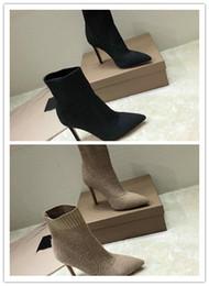 a418b6af Botas de tacón alto de diseñador de marca famosa Negro y proveedor de marca  Tango claro Personalización original zapatos de tacón alto zapatos moda  mujer ...