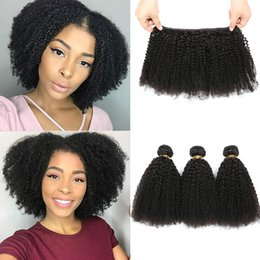 human hair extensions brand 2019 - Mongolian Hair Afro Kinky Curly Hair Extension Human Hair Bundles Weave 3 Bundles Rainbow queen Brand Free Shipping chea