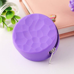 Circular Case Australia - New Circular Silicone Honeycomb Pattern Zipper Bag Storage Packing Innovative Design Protective Shell Case For Herb Grinder Multiple Use