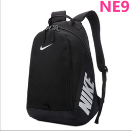 Male canvas bags online shopping - Classic NK male and female student bag Sports travel and leisure travel bag computer bag backpack