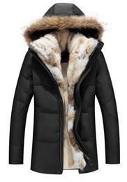 $enCountryForm.capitalKeyWord NZ - 2018 Fashion Winter Men's Duck Down Jackets Coats Real Rabbit Fur Men Women Lovers Fashion Thick Warm Parka Classic Mens jaqueta masculina