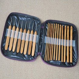 $enCountryForm.capitalKeyWord NZ - Wholesale 20pcs set Bamboo Crochet Hooks Knitting Weave Needles Set with Case DIY Knitting Hand Tool
