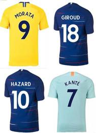 218a7a8a734 Soccer Jersey Shirt Thai Quality Canada - 18 19 HAZARD Soccer Jersey 2018  2019 MAROTA BARKLEY