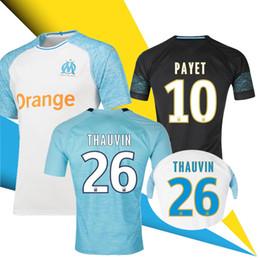 Thailand 18 19 Olympique De Marseille soccer jersey 2018 2019 Marseille  maillot de foot PAYET Camisetas L.GUSTAVO THAUVIN football shirt kit 539ed8b98
