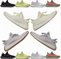 designer fashion ab2ac 6c393 Adidas Yeezy Boost 350 V2 Green color Sesame Butter ice yellow 36-46 350 v2  zapatos de diseñador Blue tint 350 V2 Sply Black Red BY9612 350 Hombres  Mujeres ...