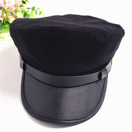 1cf93009112 Military Navy hat Army Marine Flat Cap Cadet Officer Hat Fashion Top hats  for women