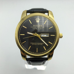 quartz watches for sale 2019 - New 2018 Hot Sale Big dial Luxury Brand Watches AAA Men Designer Quartz Watch Leather Fashion Watches For Mens atmos clo