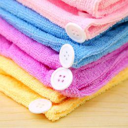 Microfiber Hair Drying Cap NZ - 1PC New Fashion Women Microfiber Bathing Quick Dry Hair Magic Drying Turban Wrap Towel Hat Cap Hair Care