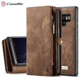 $enCountryForm.capitalKeyWord NZ - CASEME Genuine Leather phone case For samsung galaxy Note 9 Note8 Multi Functional Zipper Wallet case for galaxy S9 S9 Plus S8 S8+