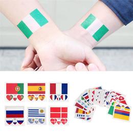 $enCountryForm.capitalKeyWord NZ - Russia World Cup National Flag Tattoo Sticker Temporary Brazil Russia Flag Football Game Body Face Hand Tattoo