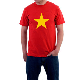China Yellow Star T-shirt Flag 5 Pointed Golden Rebel Protest Tee Vietnam or Texas ? cheap texas stars suppliers