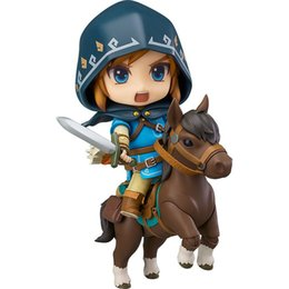 Link Action Figures UK - Good Smile Nendoroid Link Zelda Figure Breath of The Wild Ver Dx Edition Deluxe Version Action Figure PVC Toys Model Toy