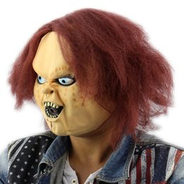 $enCountryForm.capitalKeyWord NZ - Horror Latex Mask for Child Play Chucky Action Figures Masquerade Halloween Party Bar