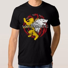 Shirts For Geeks NZ - Game of Thrones War Is Coming T-Shirt New Cotton Tee Xs-3Xl T Shirt for Men Geek Custom Short Sleeve Valentine's XXXL Group