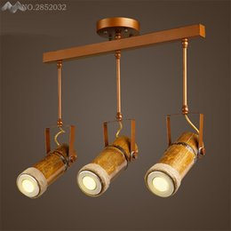 Discount industrial track lighting 2018 industrial track 2018 industrial track lighting modern industrial retro track ceiling lamps bamboo ceiling lights for living room mozeypictures Images