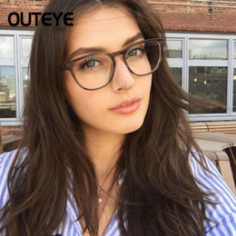 Computer Eyewear Glasses Australia - Women Transparent Computer Glasses Clear Eyeglasses Fashion Fake Optical Eye Glasses Frames Myopia Glass Spectacles Eyewear