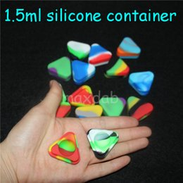 Silicone Shatter containerS online shopping - Small Triangle Silicone Wax Container Glass Oil Shatter ml Silicon Dab Jars Dry Herb Concentrate Butane Hash Oil Containers