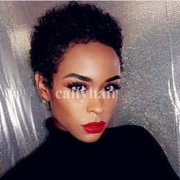 Real Human Hair Cheap NZ - Brazilian Virgin Real Hair Short Cut Hair Wigs for Black Women Capless Wigs Cheap Short Human Hair Wig with Bang