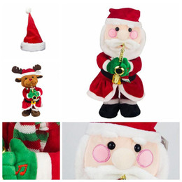 6df2ec4d4cb2f Funny Kawaii Music Doll For Children Birthday Party Gift Toy Santa Claus  Elk Snowman Hat Christmas Electric Novelty Items CCA10649 30pcs
