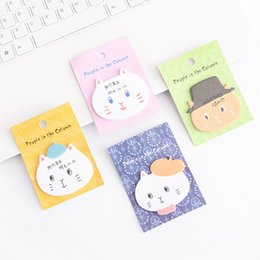 $enCountryForm.capitalKeyWord NZ - 36 Pcs Cute Cat Sticky Notes And Memo Pads Guestbook Diary Sticker Planner Message Note Stationery Office School Supplies