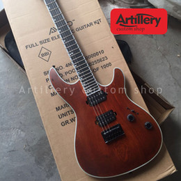 ebony fingerboard Canada - Factory custom mayones electric guitar natural ash body 6 strings guitar with ebony fingerboard musical instrument