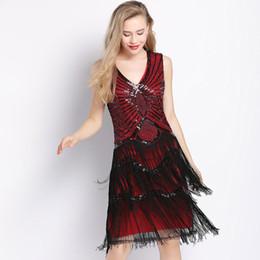 Fashion design major online shopping - 2018 Fashion V Neck Women Party Beaded Dress New Design Tassel Dress Women Mini Backless Sexy Dress