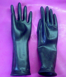 $enCountryForm.capitalKeyWord Australia - Sexy Black Wrist Latex Short Gloves for Women and Men