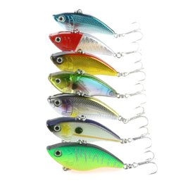 sink pieces NZ - 7 Pieces Sinking VIB Fishing Lure 5cm 14g Lipless Crankbait Artificial Vibration Bait Fishing Wobblers Fishing Tackle