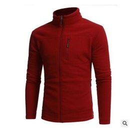 Zipper Collar Sweaters NZ - In the autumn of 2017 young men sweater collar fleece fleece sweater fashion coat zipper Metrosexual sport sweater
