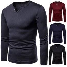 Wholesale long sleeve polo for men resale online – New Brands Sweater for Men Solid Color Sweatshirts Long Sleeve Plus Velvet Winter Sweater Casual Slim Sweaters Mens Shirt Polo T Shirts