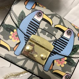 202  17cm small bag cow leather Famous Brand Luxury Graffiti animal pattern  Crossbody bag shoulder bag with chain c2d5ec23f6e21