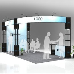 Exhibition Screen NZ - Standard 20ft*10ft Exhibition Booth Trade Fair Display Stand Economic Company Trade Show Display Equipment With Wheeled Wood Case (E01B2)