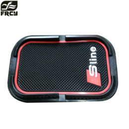 Chinese  Car phone mat sticker For SLINE For Audi A4 B6 B8 Q5 Q7 BMW E46 E39 E90 E36 Ford Focus kuga Fiesta manufacturers