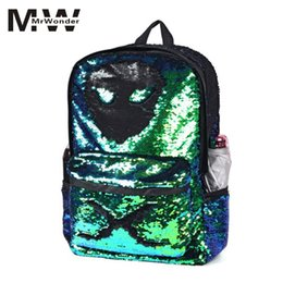 cf71f8c0ac10 mrwonder Zipper Sequin Design Girl Boy Backpacks Bags Schoolbags for Young  Men Fashion Cool PC Books Unisex Trendy Bags san0